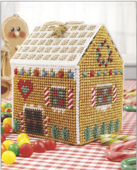 Gingerbread House Plastic Canvas Pattern by needlecraftsupershop, $4.99: Houses Plastic, Plastic Canvas Patterns, Gingerbread Houses, Intentar Patterns