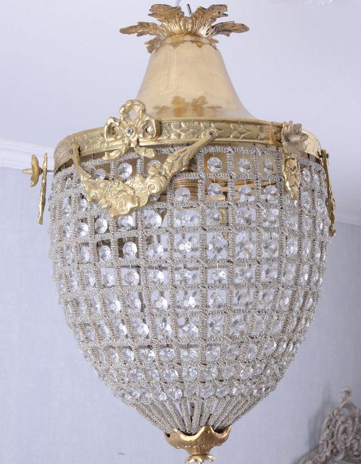 Inspirational Korbl ster Barock Lampe Deckenleuchte Deckenlampe Kristallleuchter H ngelampe