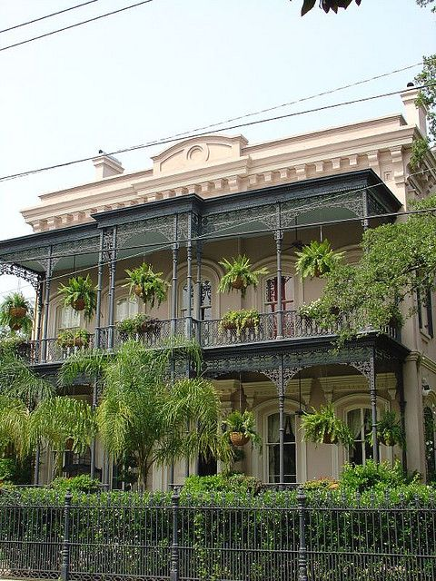 Fabulous house in the Garden District (New Orleans). This house is stunning in person.