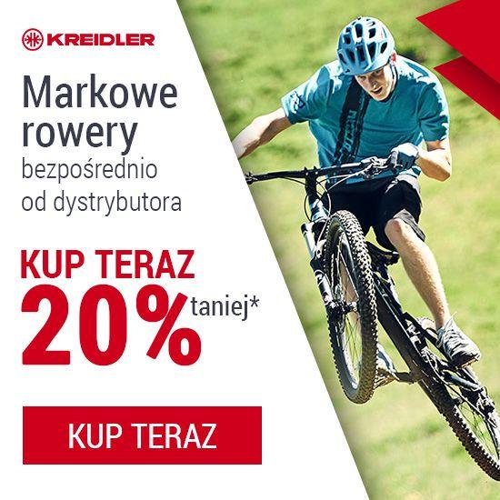 """TRZY TYGODNIE NA SPEŁNIENIE MARZEŃ Na spełnienie marzeń o posiadaniu nowego roweru marki Kreidler. Ceny bezpośrednio od dystrybutora! Wystarczy, że powiesz """"wchodzę"""" w to i dzięki temu zyskasz 20% rabat na wybrany przez siebie jednoślad. Chciałbyś rower trekkingowy? A może miejski? Mamy też rowery ze wspomaganiem elektrycznym i wiele, wiele innych. Rowery dla każdego! Szczegóły promocji tutaj: bit.ly/2pZ1jo5"""