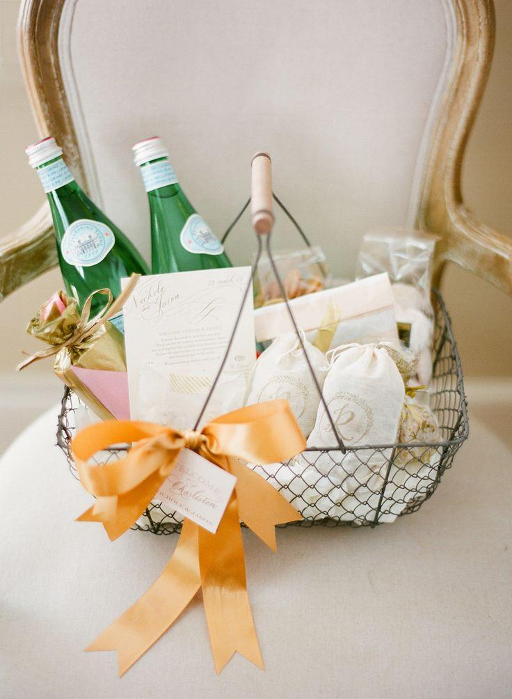 Wedding Welcome Gift Basket Ideas : welcome baskets