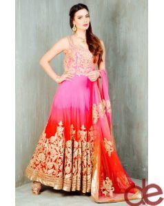 DE Glittering Pink And Magenta Designer Suit