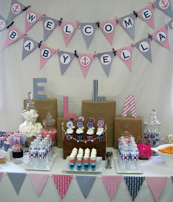 Beautiful Nautical Baby Shower Deluxe Party Package