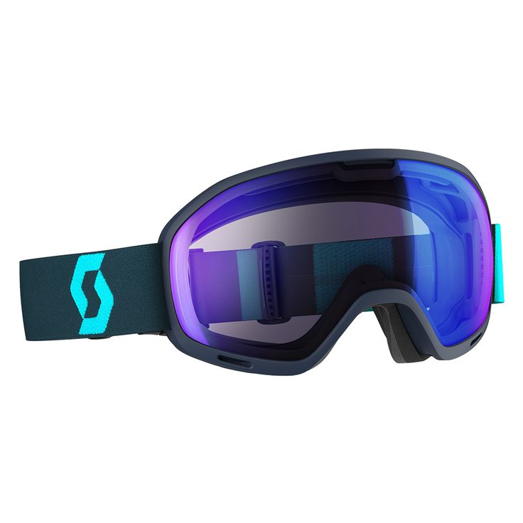 Masque de ski Scott Unlimited 2 Otg Eclipse Blue Illuminator Blue Chrome 2017