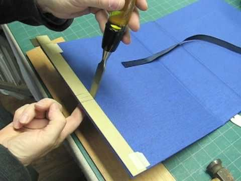 Insetting a Ribbon Tie. This man has some awesome bookbinding tutorials on youtube!
