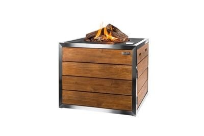 Fire Pit Happy Cocooning Teak Stainless Steel