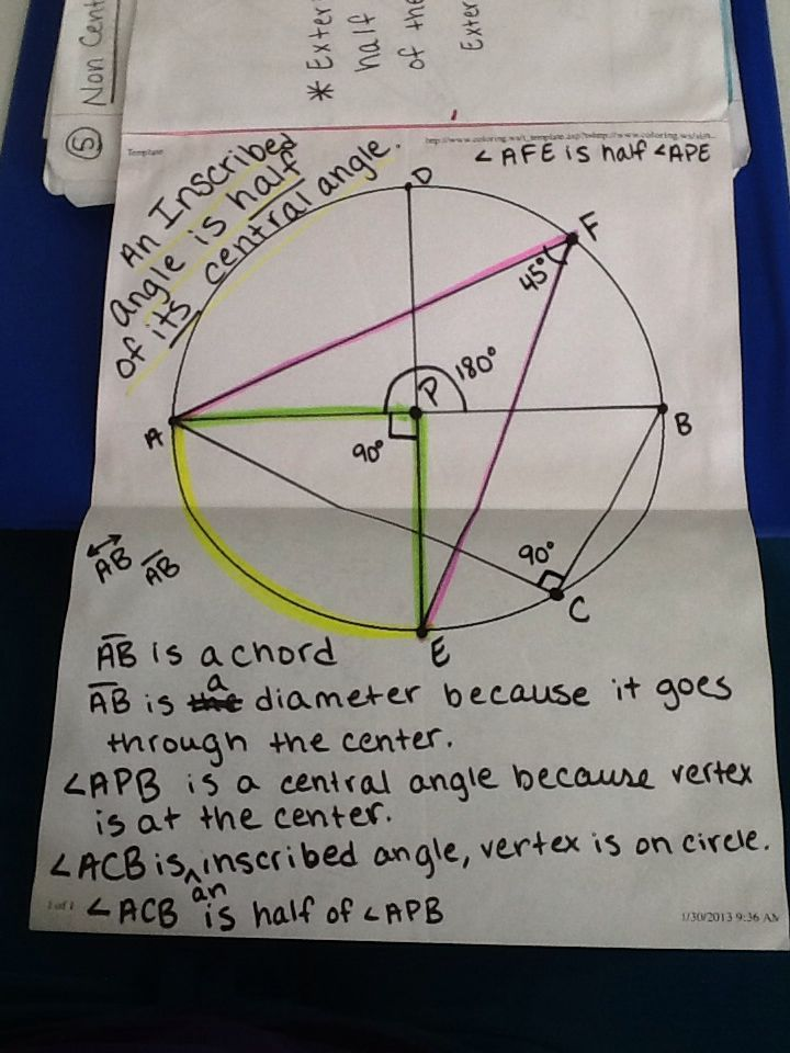 Journal Wizard: Geometry: Non-Central Angles, Interior and ...
