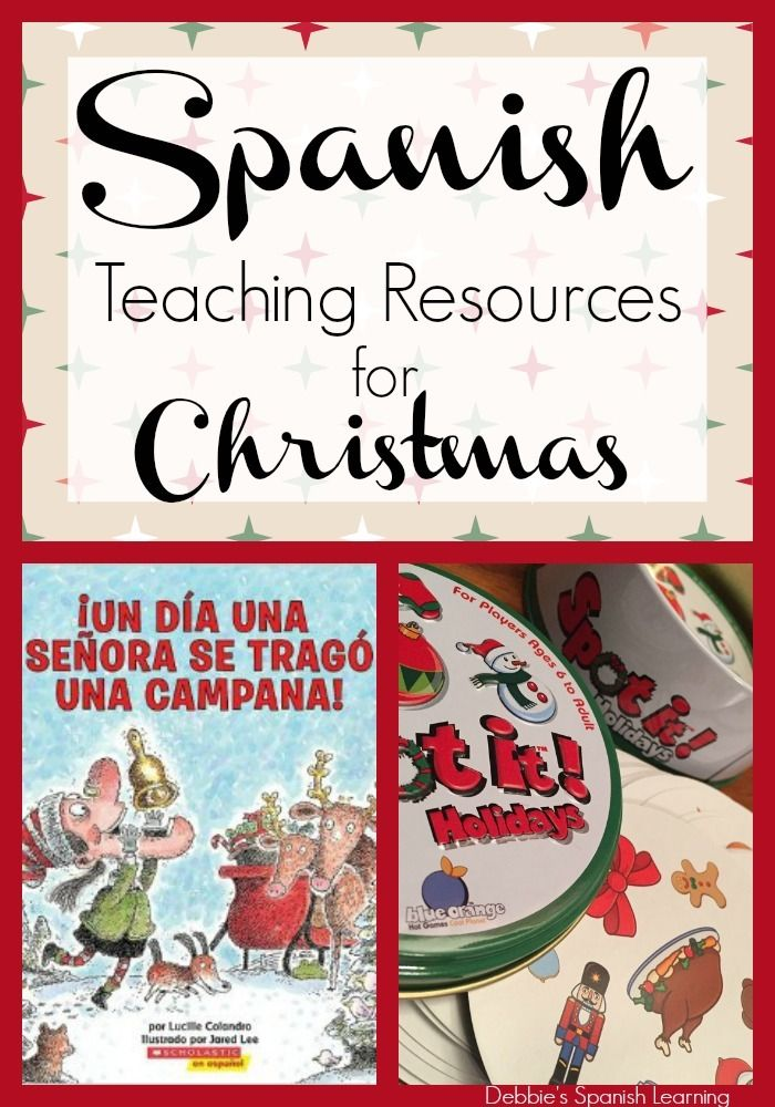 Christmas Teaching Resources in Spanish {Free Printable}