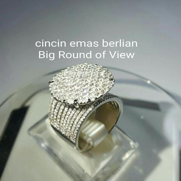 New Arrival. Cincin Emas Berlian Big Round of View.   Toko Perhiasan Emas Berlian-Ammad +6282113309088/5C50359F Cp.Antrika.  https://m.facebook.com/home.php #investasi #diomond #gold #beauty #fashion #elegant #musthave #tokoperhiasanemasberlian