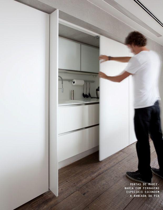 Minimalist | hidden kitchens | decor kitchen | cozinha ambienteintegrado
