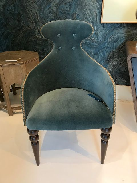 velvet chair in peacock color | design indulgence
