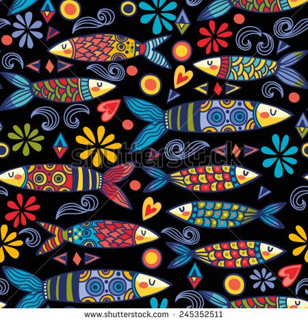 stock-vector-bright-and-amazing-portugal-pattern-of-ornamental-sardines-and-graphic-elements-245352511.jpg (450×470)