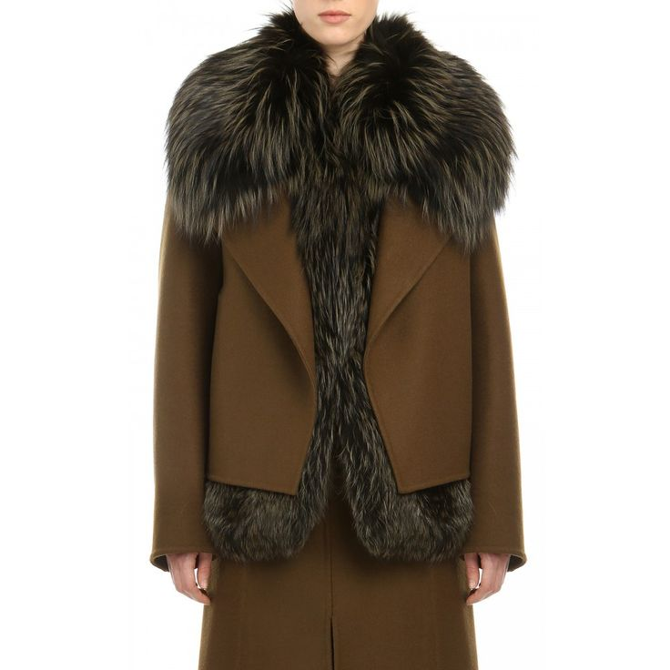 Jason Wu - COMBO DOUBLE FACE WOOL/DYED SILVER FOX CONVERTIBLE JACKET - Ready to Wear