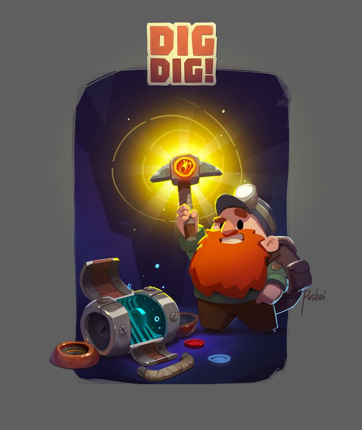 "Concept art made for ""DIG DIG"""