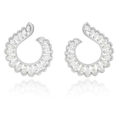 Cannes 2015 Les boucles d'oreilles Red Carpet en diamants de Chopard