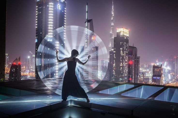 """Light-painting in Dubai - Tips and tricks on how to create this kind of shots: <a href=""""https://www.facebook.com/groups/ericpare"""">https://www.facebook.com/groups/ericpare</a>. With Kim Henry, as usual :)"""