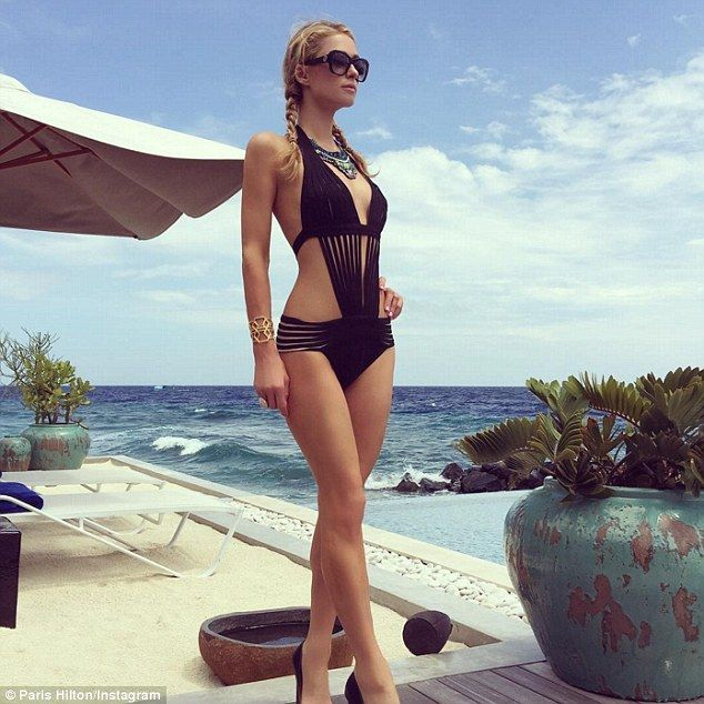 Flawless! Paris Hilton flaunted her sexy bikini bod in a series of Instagram snapshots as ...
