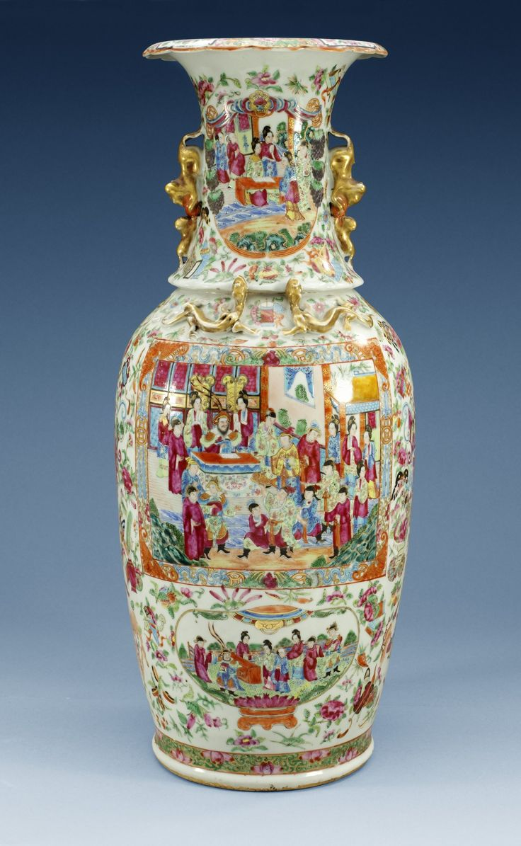 China Porcelain — Canton vase. Qing dynasty. H:t 62,5 cm, 19th Century (2256×3664)