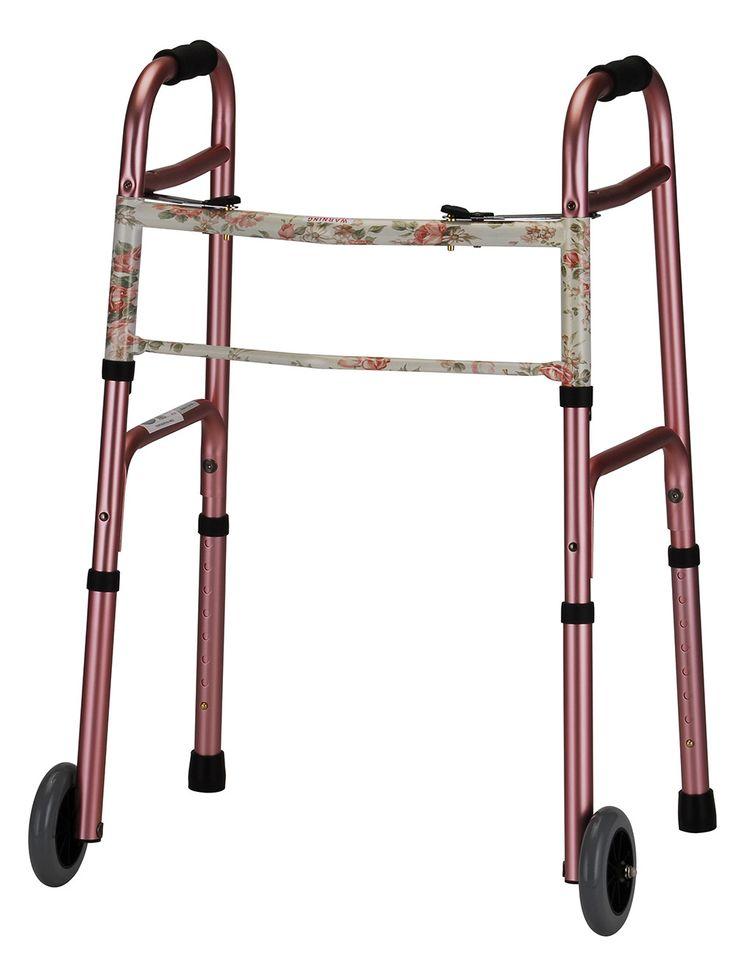 "Nova Medical Lightweight Adult Aluminum Walkers with 5"" Wheels"