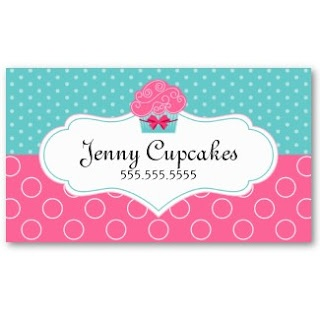 Business Card Showcase by Socialite Designs: Whimsical Cupcake Bakery Business Cards