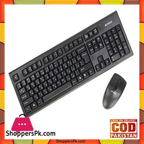 f5513afff05 On Sale: A4TECH Wireless Keyboard & Mouse Black 3100N in Pakistan Price  Rs.