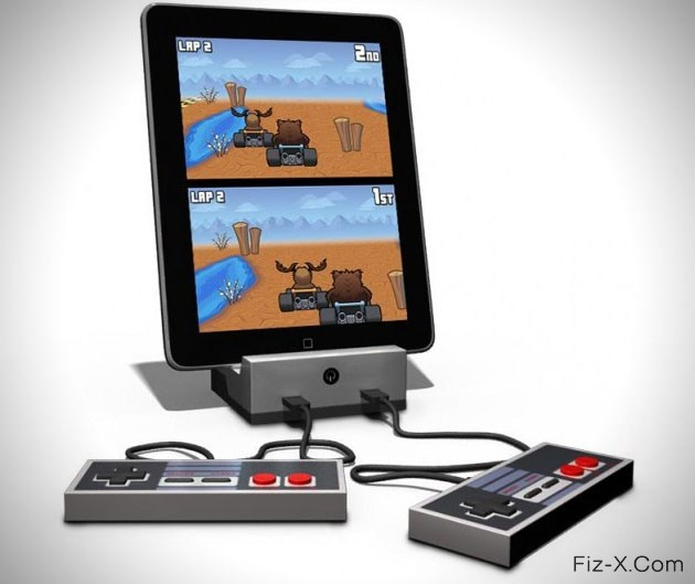 GameDock Retro Video Game Console for Apple iPad and iPhone. One would think with all the amazing video games available on today's retail scene would keep us away from old 8 bit offerings, but one would be very wrong