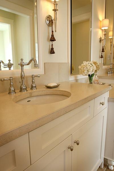 concrete bathroom countertop