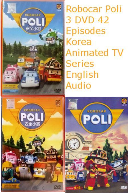 Robocar Poli 42 Episodes Korean Animated Children Cartoon TV Series Anime DVD