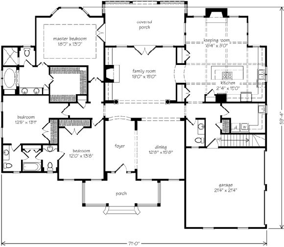 238 best house plans images on pinterest cottage for Southern living house plans with keeping rooms