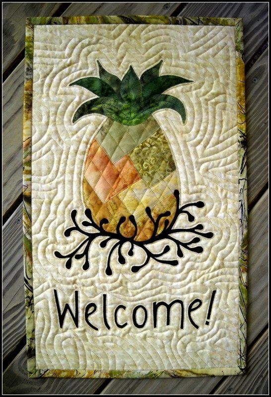 Pineapple Welcome Quilted Wall Hanging by Sue Ann Wiltse