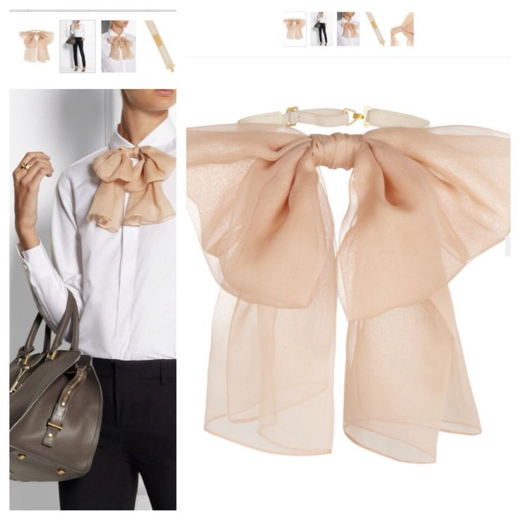 #YSL #bow #saintlaurent #fashion #woman #style Www.net-a-porter.com