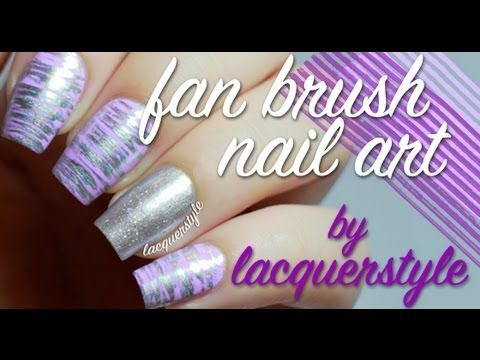 Fan Brush Nail Art Tutorial - YouTube
