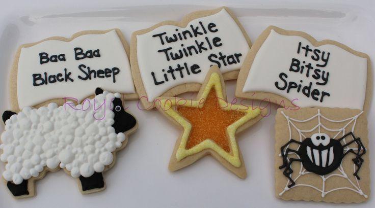 Mother Goose Nursery Rhyme Cookie Platter: Kiddie Cookies, Mother Goose, Cookie Platter, Baby Girl, Cookie Designs, Decorated Cookies, Baby Ii, Baby Shower