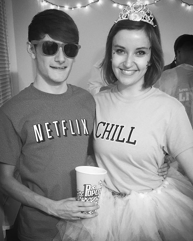 Had a great time at the costume party last night  #NetflixandChill #netflix…