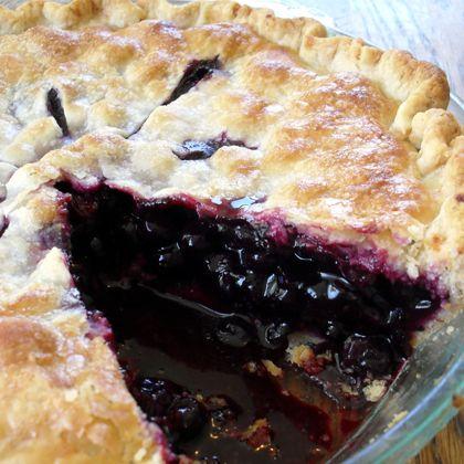 Grandmas Old Fashioned Blueberry Pie Recipe from Mamma's Recipes