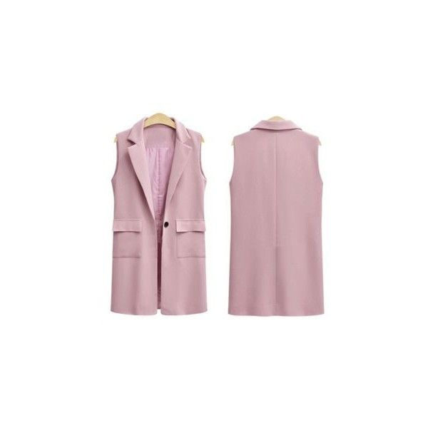 Plain Long Vest ($22) ❤ liked on Polyvore featuring outerwear, vests, women, long vests, purple vest, long waistcoat, purple waistcoat and vest waistcoat