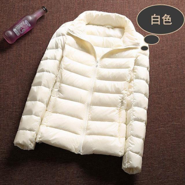 Ultra Light 90% White Duck Down Jacket Women Winter Coat 2018 Thin Female Winter Slim Warm Jacket Windproof Down Coat Plus colth