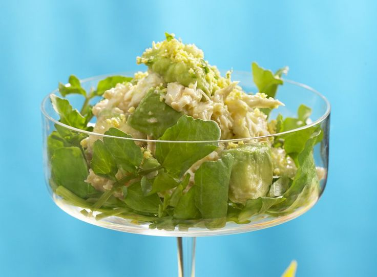 #Crabmeat And #Avocado #Mimosa #Salad 15 #Powerful #Meat #Salads   All #Yummy #Recipes