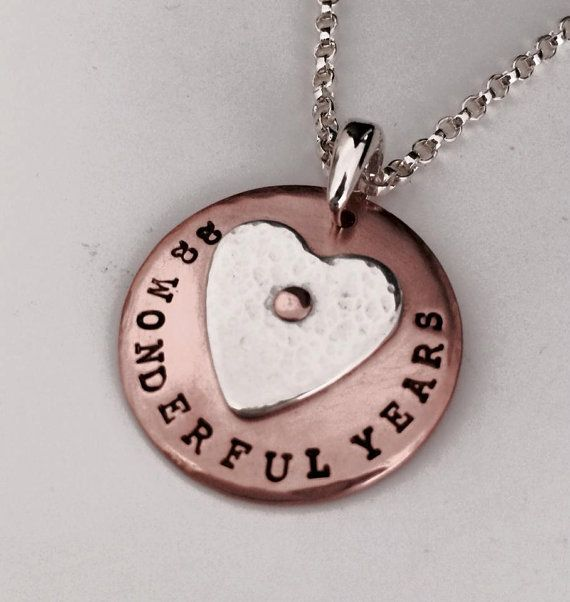 Personalised stamped copper pendant with a by ChantelMcCabe