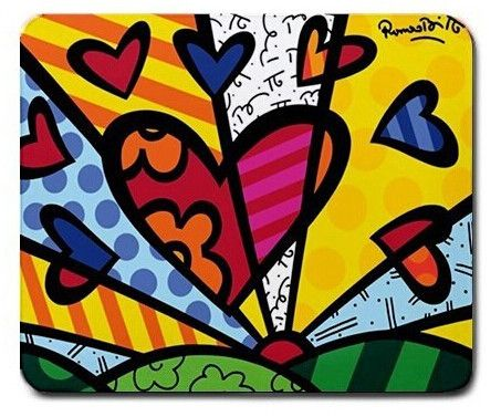 Decco Art Hearts Non Slip Durable Rubber Mouse Pad for Computer PC Optical Mouse