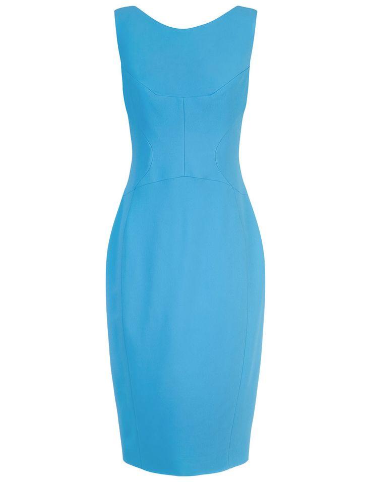 ANTONIO BERARDI Blue Sleeveless Corset Dress. #antonioberardi #cloth #dress