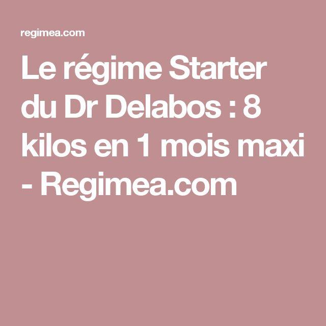 Le régime Starter du Dr Delabos : 8 kilos en 1 mois maxi - Regimea.com