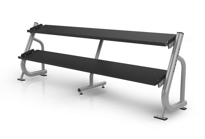 2-tier Flat-tray Dumbbell Rack (2.4 m / 8') MG-A696