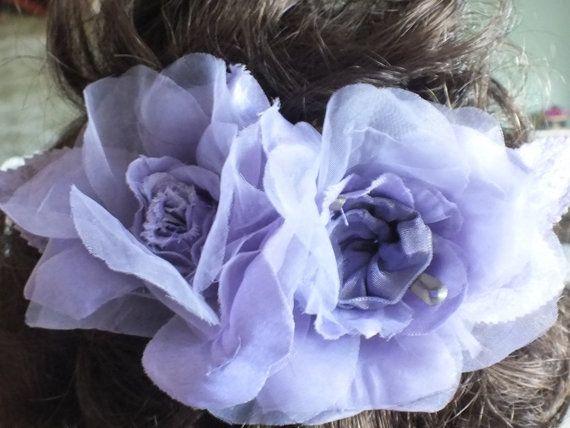 Handmade Lilac  Fascinator Hair Adornment by AliceSiouxBridal, $45.00 veil, wedding, bride, hair comb, bridesmaid, flower girl, hair accessory, head piece
