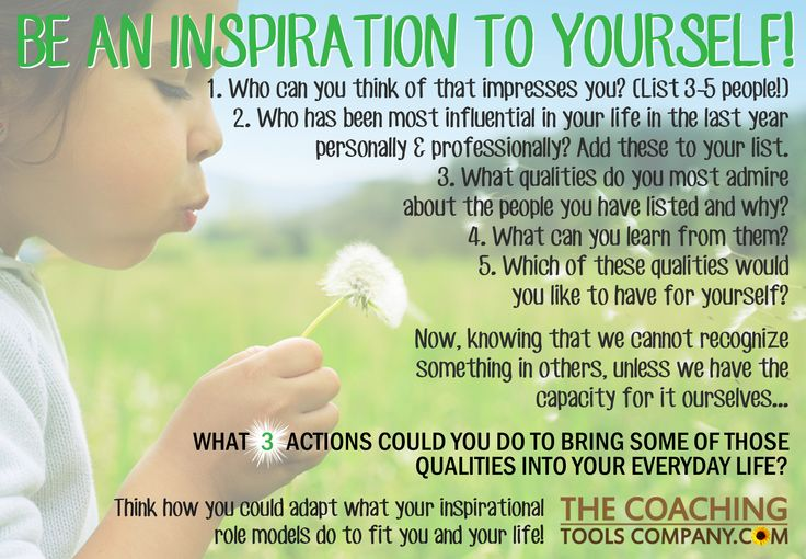 Be an Inspiration to Yourself!