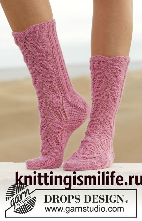 Носки Think Pink  (вязание спицами)