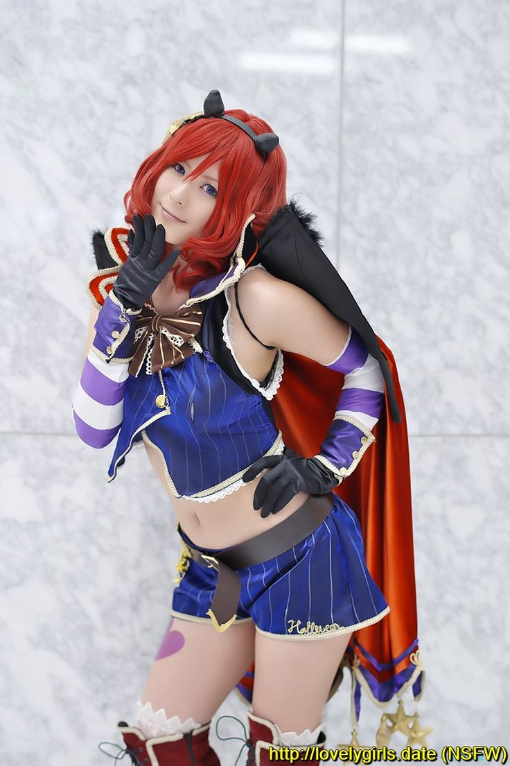 #Boots, #Cape, #Cosplay, #DetachedSleeves, #FurumiyaSui, #Gloves, #Horns, #LoveLiveSchoolIdolProject, #NishikinoMaki, #RedHair, #Shorts, #ThighBoots, #Thighhighs, #Vest, #Wings