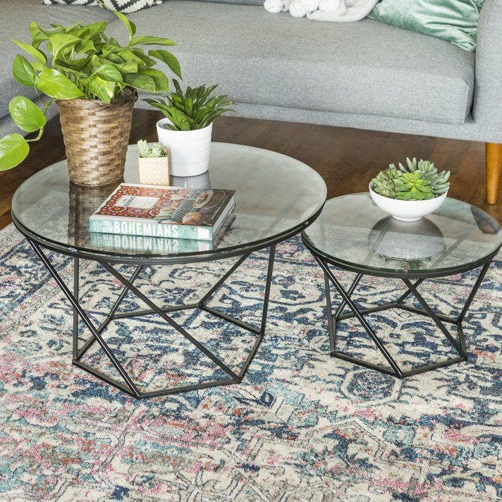 Adrianna 2 Piece Coffee Table Set Living Room In 2019