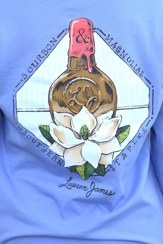 Lauren James: Bourbon & Magnolias Shirt: Periwinkle – Hope's #shophopes