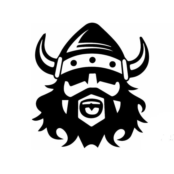 58cm x 58cm 2 x Bearded Viking In Helmet Funny Graphical (one For Each Side) Car Sticker For Truck Door Vinyl Decal 9 Colors